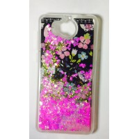 Cover for Huawei Y5 2017 water glitter